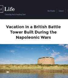 Vacation in a British Battle Tower