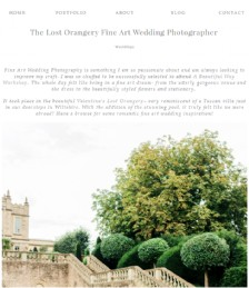 The Lost Orangery Fine Art Wedding Photographer