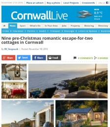 Nine ​Pre-Christmas Romantic Escape-for-Two Cottages