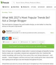 What Will 2017's Most Popular Trends Be? Ask a Design Blogger