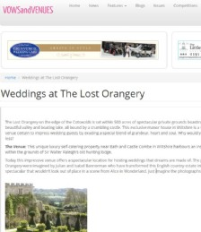 Weddings at The Lost Orangery