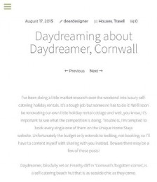 Daydreaming about Daydreamer, Cornwall