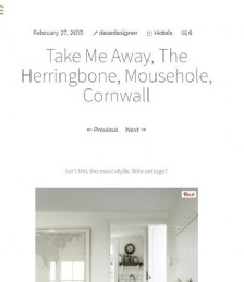 Take Me Away, The Herringbone, Mousehole, Cornwall