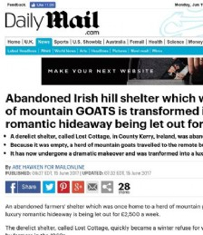 Abandoned Irish Hill Shelter Which Was Home to Herd of Mountain Goats is Transformed