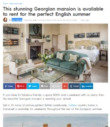 The Stunning Georgian Mansion is Available to Rent For The Perfect English Summer