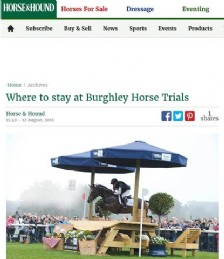 Where to Stay at Burghley Horse Trials