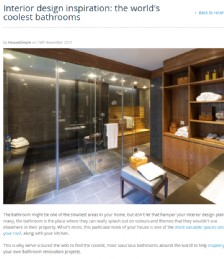 Interior Design Inspiration: The world´s coolest bathrooms