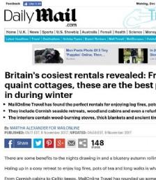 Britain´s Cosiest Rentals Revealed