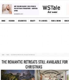 The Romantic Retreats still available for Christmas