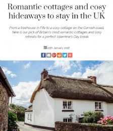 Romantic cottages and cosy hideaways to stay in the UK