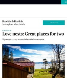 Love nests: Great places for two