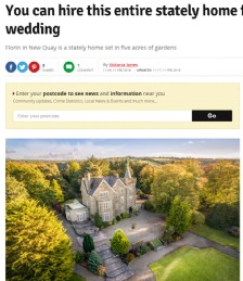 You can hire this entire stately home for your wedding