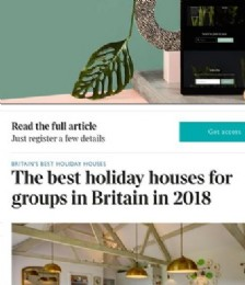 The best holiday houses for groups in Britain in 2018