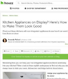 Kitchen appliances on display? Here's how to make them look good