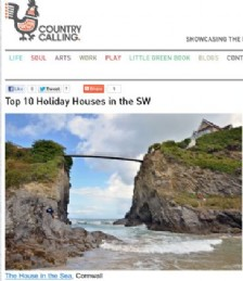 Top Ten Holiday Houses in the South West
